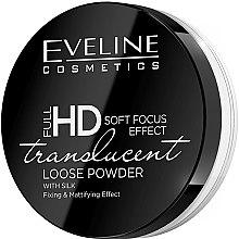 Kup Matujący sypki puder z jedwabiem - Eveline Cosmetics Full HD Soft Focus Effect Translucent Loose Powder