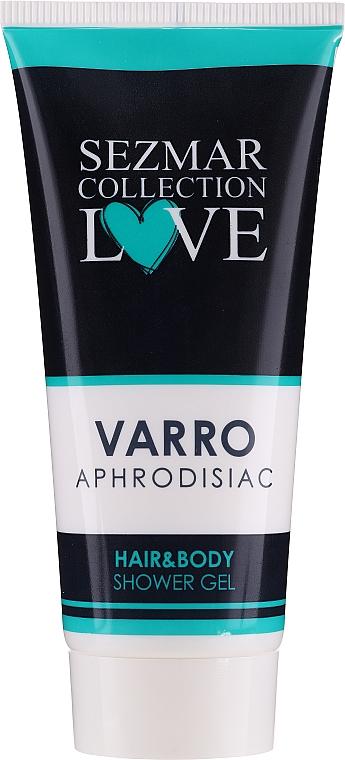 Żel pod prysznic 2 w 1 do włosów i ciała - Hrisnina Cosmetics Sezmar Collection Love Varro Aphrodisiac Hair & Body Shower Gel — фото N1