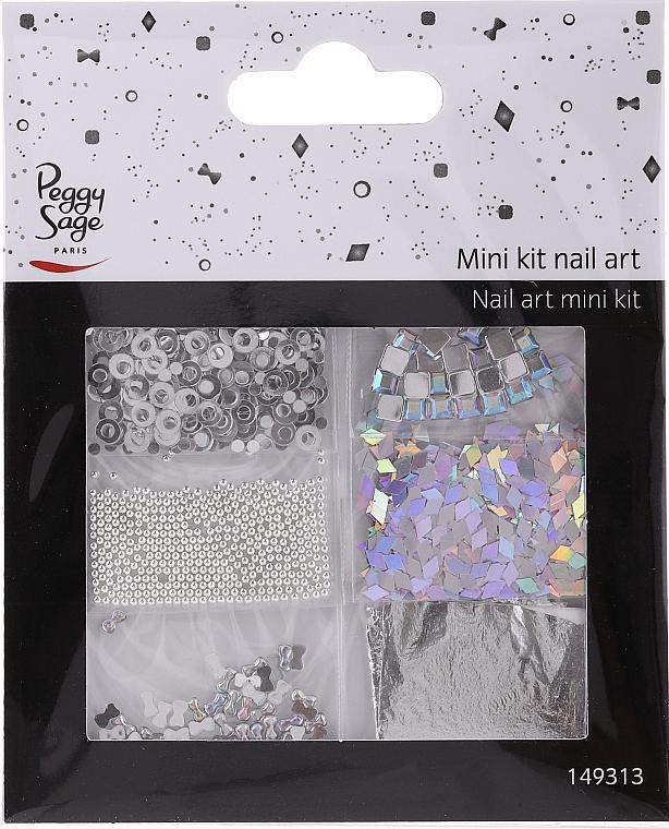 Zestaw do zdobienia paznokci, 149313 - Peggy Sage Mini Kit Nail Art Argent — фото N1