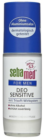 Delikatny antyperspirant w kulce - Sebamed For Men Deo Sensetive Roll-On — фото N1