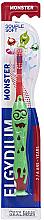 Kup Szczoteczka do zębów dla dzieci 2-6 lat, czerwona - Elgydium Kids Monster Toothbrush
