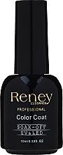 Kup Top coat do lakieru hybrydowego z drobinkami brokatu - Reney Cosmetics Professional Top Super Shimmer No Wipe Color Coat Soak-Off UV & LED