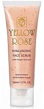 Kup Peeling z kwasem hialuronowym i ekstraktami z kwiatów - Yellow Rose Hyaluronic Face Scrub