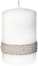 Kup Świeca dekoracyjna biała, 7x10 cm - Artman Crystal Pearl