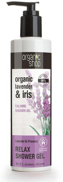 Relaksujący żel pod prysznic Prowansalska lawenda - Organic Shop Organic Lavender And Iris Relax Shower Gel
