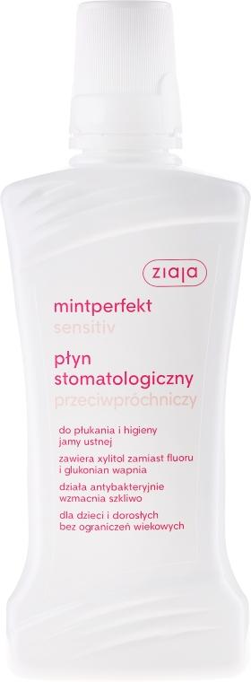 Przeciwpróchniczy płyn stomatologiczny - Ziaja Mintperfekt Sensitiv