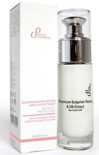Krem do powiek - Sayaz Cosmetics Premium Bulgarian Rose & Silk Extract Eye Cream — фото N1