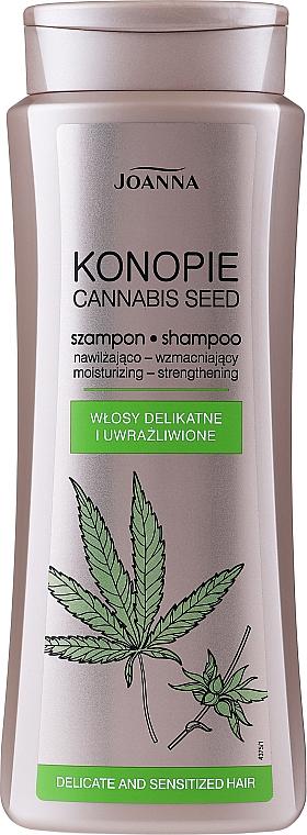Nawilżająco-wzmacniający szampon do włosów delikatnych i uwrażliwionych - Joanna Konopie