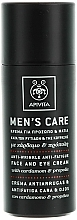 Kup Przeciwzmarszczkowy krem do twarzy i skóry wokół oczu dla mężczyzn Kardamon i propolis - Apivita Men Men's Care Anti-Wrinkle Anti-Fatigue Face And Eye Cream With Cardamom & Propolis