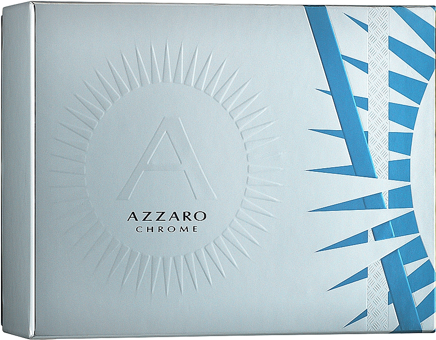 Azzaro Chrome - Zestaw (edt/50ml + deo/75ml) — фото N1