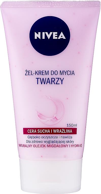 Kremowy żel do mycia twarzy do cery suchej i wrażliwej - Nivea Visage Cleansing Soft Cream Gel