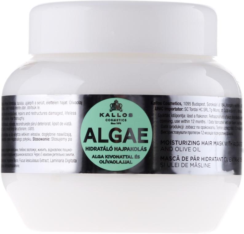 Nawilżająca maska do włosów z ekstraktem z alg i oliwą z oliwek - Kallos Cosmetics Algae Mask