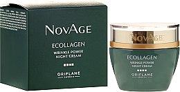 Kup Przeciwzmarszczkowy krem do twarzy na noc - Oriflame NovAge Ecollagen Wrinkle Power Night Cream