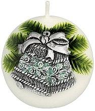 Kup Świeca dekoracyjna Świąteczny dzwonek, kula, 8 cm - Artman
