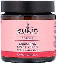 Kup Odżywczy krem na noc do skóry suchej i problematycznej, dzika róża - Sukin Rosehip Enriching Night Cream