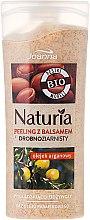 Kup Wygładzająco-odżywczy peeling drobnoziarnisty z balsamem z olejem arganowym - Joanna Naturia