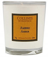 Kup Świeca zapachowa Ambra - Collines de Provence Amber Scented Candle