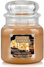 Kup Świeca zapachowa w słoiku - Country Candle Caramel Chocolate