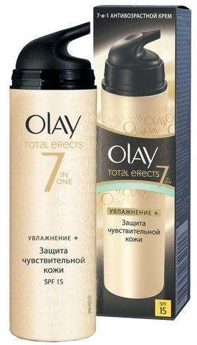 Nawilżajacy krem na dzień - Olay Total Effects Day Cream Sensitive SPF15 — фото N2