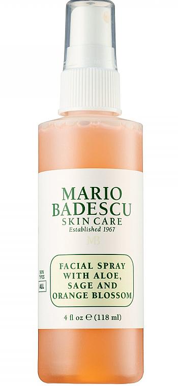 Spray do twarzy z aloesem, szałwią i kwiatem pomarańczy - Mario Badescu Facial Spray with Aloe Sage & Orange Blossom — фото N1