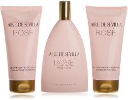 Kup Instituto Español Aire de Sevilla Rose - Zestaw( edt/150ml + b/milk/150ml + sh/cr/150ml)