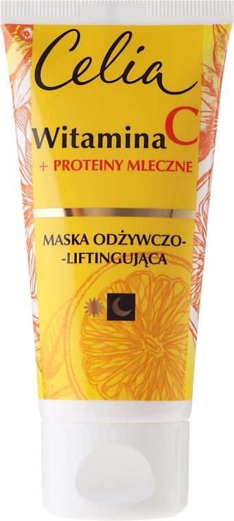 Maska odżywczo-liftingująca Witamina C + proteiny mleczne - Celia Witamina C Face Mask