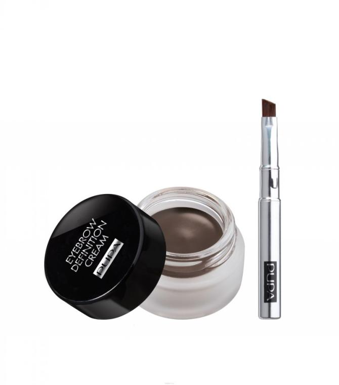 Wodoodporny krem definiujący do makijażu brwi - Pupa Eyebrow Definition Cream