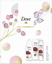 Kup Zestaw - Dove Relaxing Care Gift Set II (sh/gel/250ml+b/lot/250ml+deo/spray150ml)