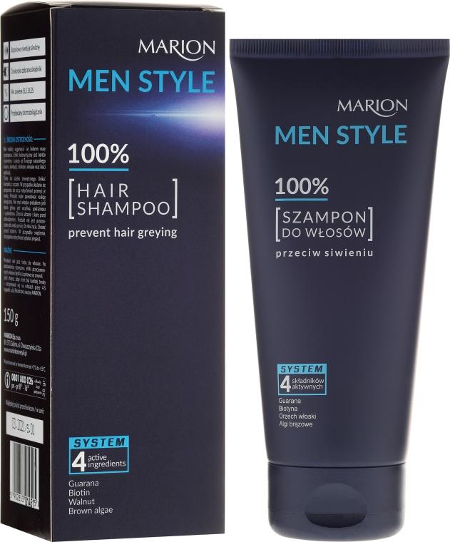 Szampon do włosów dla mężczyzn przeciw siwieniu - Marion Men Style Shampoo Against Greying