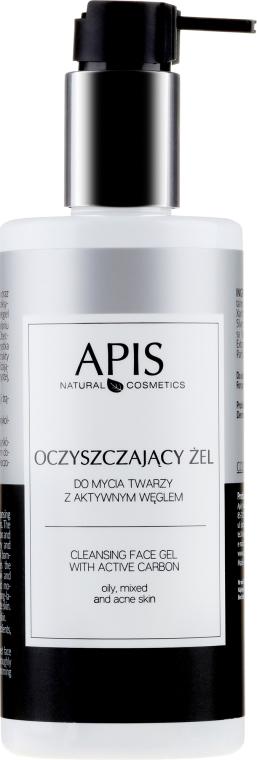 Oczyszczający żel do mycia twarzy z aktywnym węglem - APIS Professional Cleansing Gel