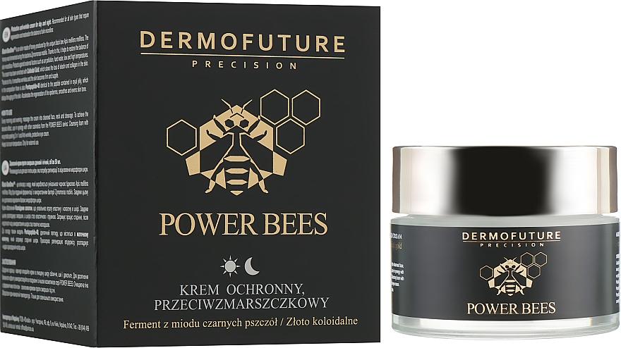 Ochronny krem przeciwzmarszczkowy na dzień i na noc - Dermofuture Power Bees Protective Anti-wrinkle Cream