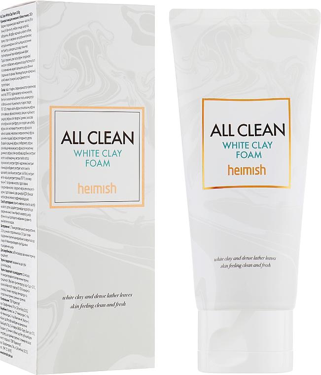 Oczyszczająca pianka do twarzy z glinką białą - Heimish All Clean White Clay Foam