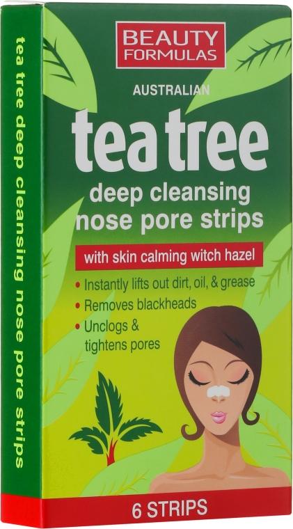 Płatki głęboko oczyszczające pory nosa - Beauty Formulas Tea Tree Deep Cleansing Nose Pore Strips