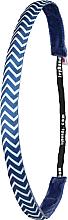 Kup Opaska do włosów, niebiesko-biała - IvyBands Chevron Blue Hair Band