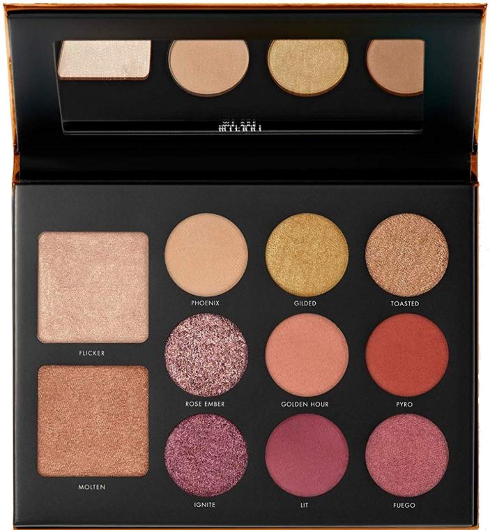 Paleta do makijażu oczu i twarzy - Milani Gilded Ember Hyper-Pigmented Eye & Face Palette — фото N1
