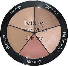 Kup Paleta do konturowania twarzy 5 w 1 - IsaDora Face Wheel All-In-One