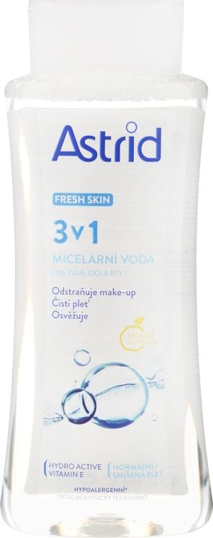 Odświeżająca woda micelarna do skóry normalnej i mieszanej - Astrid Fresh Skin 3in1 Micellar Water — фото N1
