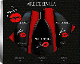 Kup Instituto Espanol Aire de Sevilla Si Quiero - Zestaw (edt 150 ml + sh/gel 150 ml + b/cr 150 ml)