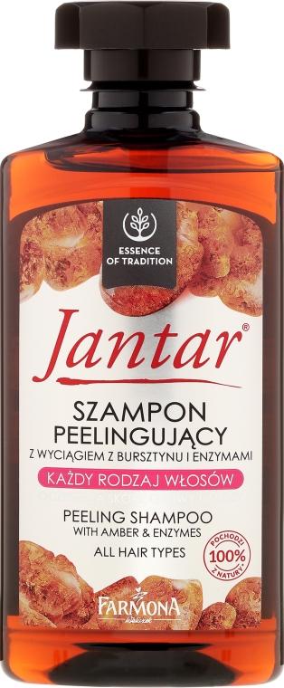 Szampon peelingujący z wyciągiem z bursztynu i enzymami - Farmona Jantar