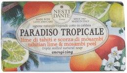 Kup Naturalne mydło energizujące w kostce Limonka i limeta - Nesti Dante Paradiso Tropicale Energizing