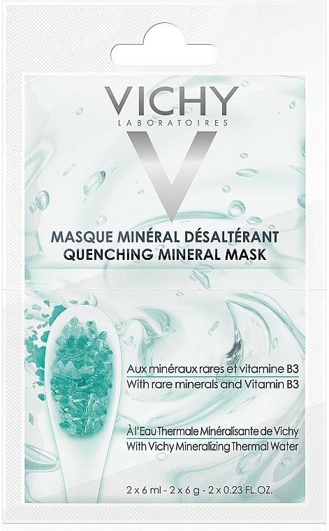 Nawilżająca maska mineralna - Vichy Quenching Mineral Face Mask Review — фото N1