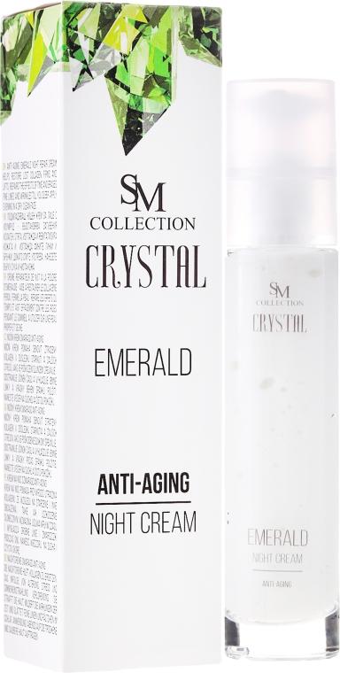 Szmaragdowy krem przeciwstarzeniowy na noc - SM Collection Crystal Emerald Anti-Aging Night Cream