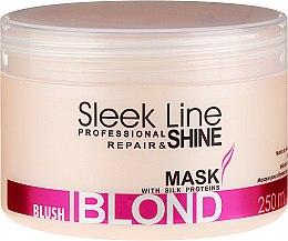 Kup Maska do włosów blond nadająca różowy odcień - Stapiz Sleek Line Blush Blond Mask