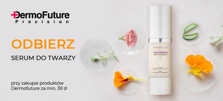 Kup produkty Dermofuture za min. 39 zł, a serum regenerująco-wygładzające do twarzy otrzymasz w prezencie.