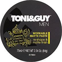 Kup Matująca pasta do stylizacji włosów - Toni & Guy Men Workable Matte Paste