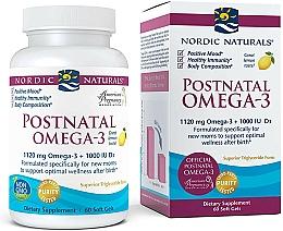 Kup Suplement diety dla młodych mam, Omega 3 - Nordic Naturals Postnatal Omega-3 Lemon Flavor