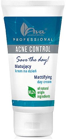 Matujący krem na dzień do twarzy - Ava Laboratorium Acne Control Professional Save The Day Mattifying Day Cream — фото N1