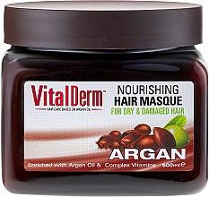 Kup Maska do włosów farbowanych i rozjaśnianych - VitalDerm Argan