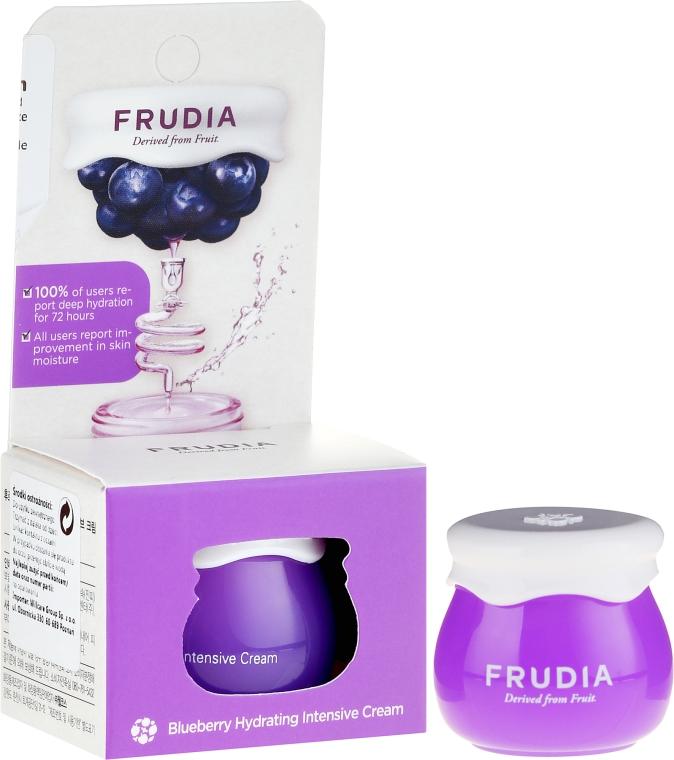 Jagodowy intensywnie nawilżającykrem do twarzy - Frudia Blueberry Intensive Hydrating Cream (miniprodukt) — фото N1