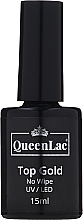 Kup Top coat do lakieru hybrydowego - QueenLac Top Gold No Wipe UV/LED